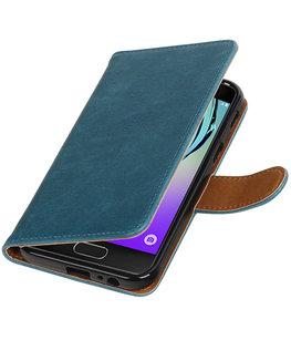 Blauw Pull-Up PU booktype wallet cover voor Hoesje voor Samsung Galaxy A3 2017