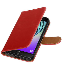 Rood Pull-Up PU booktype wallet cover voor Hoesje voor Samsung Galaxy A3 2017