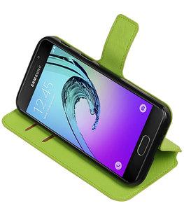 Groen Hoesje voor Samsung Galaxy A5 2017 TPU wallet case booktype HM Book