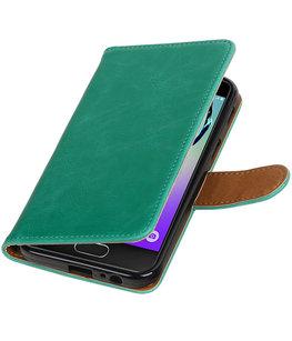 Groen Pull-Up PU booktype wallet cover voor Hoesje voor Samsung Galaxy A5 2017