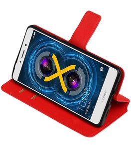 Rood Hoesje voor Huawei Honor 6x 2016 TPU wallet case booktype HM Book