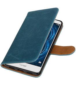 Blauw Pull-Up PU booktype wallet cover voor Hoesje voor Huawei Honor 6x 2016