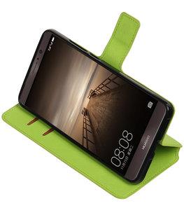 Groen Hoesje voor Huawei Mate 9 TPU wallet case booktype HM Book