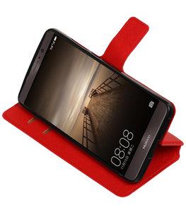 Rood Hoesje voor Huawei Mate 9 TPU wallet case booktype HM Book