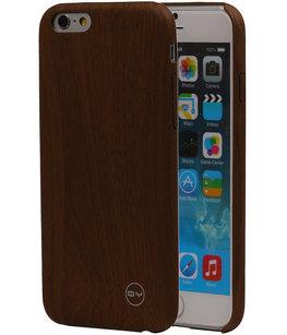 Bruin Hout QY TPU Cover Case voor Hoesje voor Apple iPhone 6/6S Plus