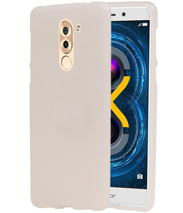 Hoesje voor Huawei Honor 6X 2016 TPU back case transparant Wit