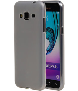 Hoesje voor Samsung Galaxy J3 2017 TPU back case transparant Wit