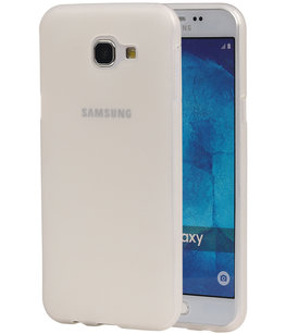 Hoesje voor Samsung Galaxy A8 2016 TPU back case transparant Wit