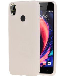 Hoesje voor HTC Desire 10 Pro TPU back case transparant Wit