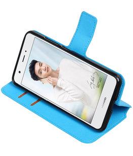 Blauw Hoesje voor Huawei Nova Plus TPU wallet case booktype HM Book