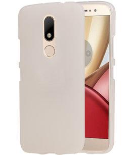 Hoesje voor Motorola Moto M TPU back case transparant Wit