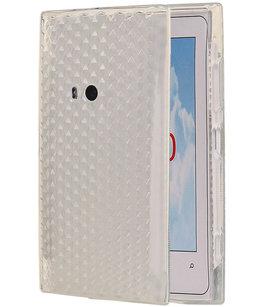 Hoesje voor Nokia Lumia 920 Diamant TPU back case Wit