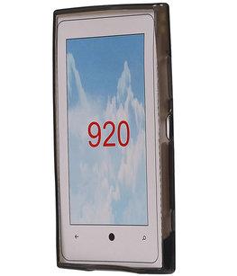 Hoesje voor Nokia Lumia 920 Diamant TPU back case Grijs