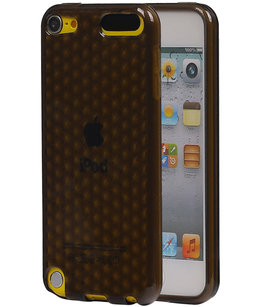 Hoesje voor Apple iPod Touch 5 / 6 Diamant TPU back case Zwart