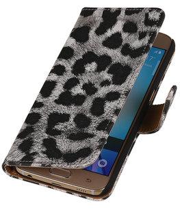 Zilver Luipaard Booktype wallet voor Hoesje voor Apple iPhone 6 / 6s Plus