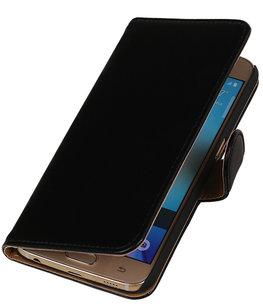Zwart Leder Look Booktype wallet voor Hoesje voor Apple iPhone 6 / 6s Plus