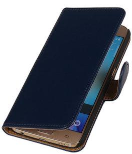 Donker Blauw Leder Look Booktype wallet voor Hoesje voor Apple iPhone 6 / 6s Plus