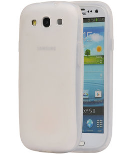 Hoesje voor Samsung Galaxy S3 i9300 TPU back case Wit