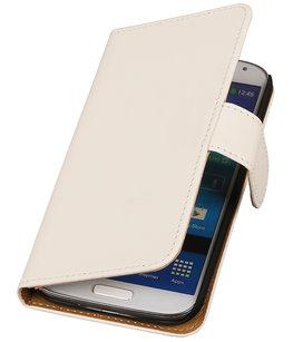 Wit Effen booktype wallet cover voor Hoesje voor Samsung Galaxy S5 Active G870