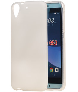 Hoesje voor HTC Desire 650 TPU back case transparant Wit