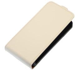 Wit Effen Flip case voor Hoesje voor Samsung Galaxy Fame S6810