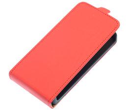 Rood Effen Flip case voor Hoesje voor Samsung Galaxy Fame S6810
