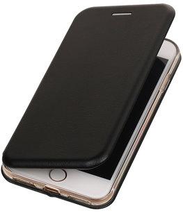 Zwart Premium Folio leder look booktype smartphone voor Hoesje voor Apple iPhone 7 / 8
