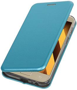 Blauw Premium Folio leder look booktype smartphone voor Hoesje voor Samsung Galaxy A3 2017 A320