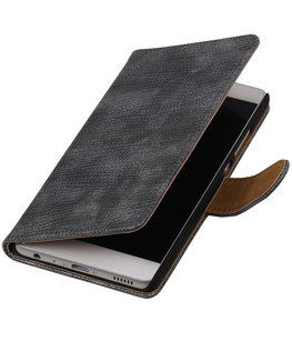 Grijs Mini Slang booktype wallet cover voor Hoesje voor Samsung Galaxy A3 2017 A320F