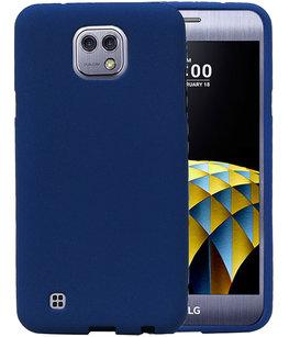 Blauw Zand TPU back case cover voor Hoesje voor LG X Cam K580