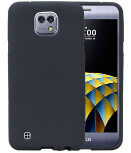 Grijs Zand TPU back case cover voor Hoesje voor LG X Cam K580