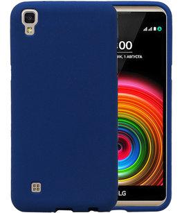 Blauw Zand TPU back case cover voor Hoesje voor LG X Power K220