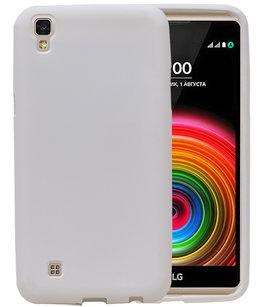 Wit Zand TPU back case cover voor Hoesje voor LG X Power K220