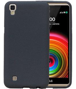 Grijs Zand TPU back case cover voor Hoesje voor LG X Style K200
