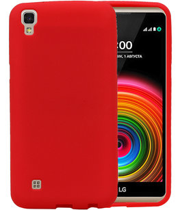 Rood Zand TPU back case cover voor Hoesje voor LG X Style K200