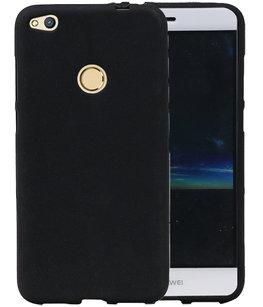 Zwart Zand TPU back case cover voor Hoesje voor Huawei P8 Lite 2017 / P9 Lite 2017