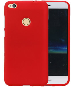 Rood Zand TPU back case cover voor Hoesje voor Huawei P8 Lite 2017 / P9 Lite 2017