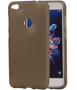 Hoesje voor Huawei P8 Lite 2017 / P9 Lite 2017 TPU back case transparant Grijs