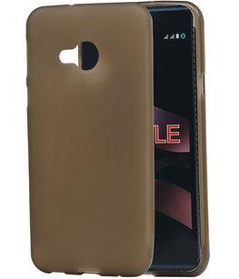Hoesje voor LG X Style K200 TPU back case transparant Grijs