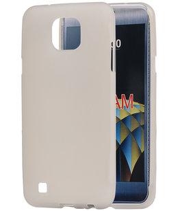 Hoesje voor LG X Cam K580 TPU back case transparant Wit