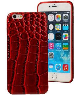 Rood Krokodil TPU back cover case voor Hoesje voor Apple iPhone 6 Plus / 6S Plus
