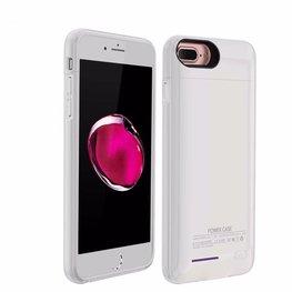 Wit smart batterij / battery case met stand functie voor Hoesje voor Apple iPhone 6 / 6s en  iPhone 7 en iPhone 8