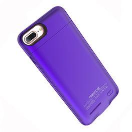 Paars smart batterij / battery case met stand functie Hoesje voor Apple iPhone 6 / 6s / 7 / 8