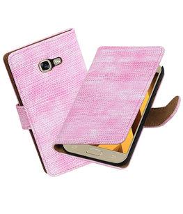 Roze Mini Slang booktype wallet cover Hoesje voor Samsung Galaxy A5 2017