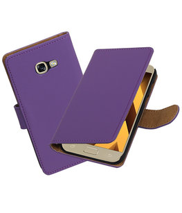 Paars Effen booktype wallet cover Hoesje voor Samsung Galaxy A5 2017