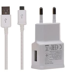 Type C USB Telefoon Oplader en Kabel Wit