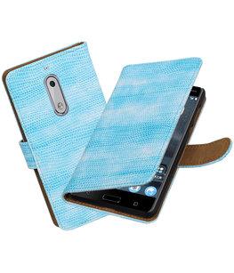 Hoesje voor Nokia 5 Mini Slang booktype Turquoise