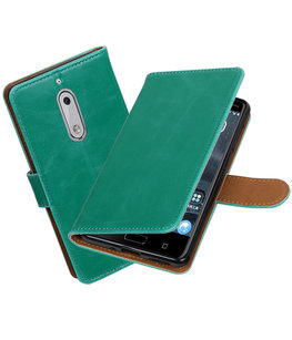 Hoesje voor Nokia 5 Pull-Up booktype Groen