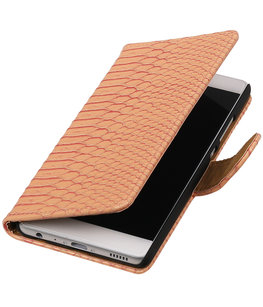Hoesje voor Huawei Ascend Y320 Slang booktype Roze