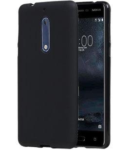 Hoesje voor Nokia 5 TPU back case Zwart